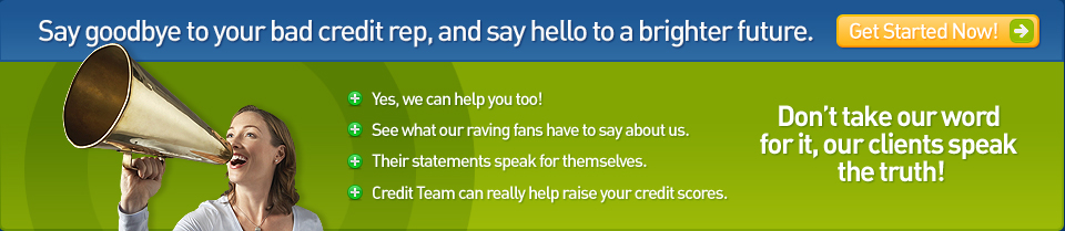 Check out our customer testimonials and get started now with credit repair from Credit Team USA